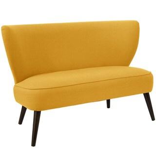 Skyline Furniture Midcentury Loveseat in Linen