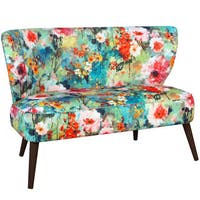Skyline Furniture Midcentury Loveseat in Juliet Multi