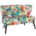 Skyline Furniture Midcentury Loveseat in Juliet Multi