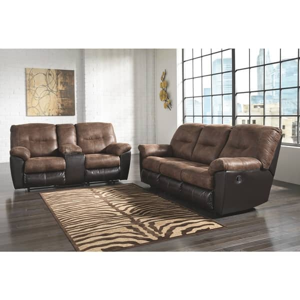 Phenomenal Shop Follett Coffee Reclining Loveseat With Console Free Bralicious Painted Fabric Chair Ideas Braliciousco