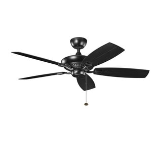 Kichler Lighting Canfield Patio Collection 52-inch Satin Black Ceiling Fan
