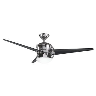 Kichler Lighting Cadence Collection 54-inch Midnight Chrome Ceiling Fan w/Light