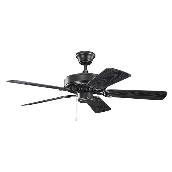 42 black ceiling fan outdoor ceiling kichler lighting basics collection 42inch satin black ceiling fan shop