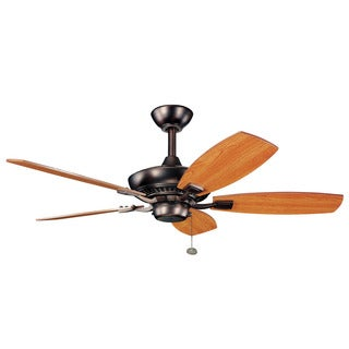 Kichler Lighting Canfield Collection 44-inch Oil Brushed Bronze Ceiling Fan