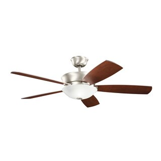 Kichler Lighting Skye Collection 54-inch Brushed Nickel Ceiling Fan w/Light