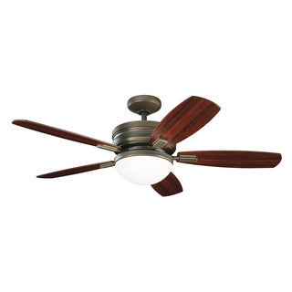 Kichler Lighting Carlson Collection 52-inch Oiled Bronze Ceiling Fan w/Light