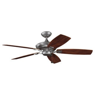 Kichler Lighting Canfield Patio Collection 52-inch Weathered Steel Powder Coat Ceiling Fan
