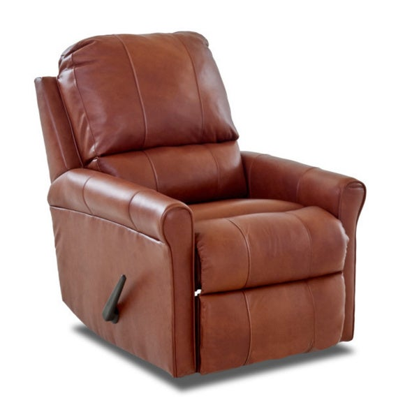 Superbe Made To Order Baja Leather Reclining Rocking Chair