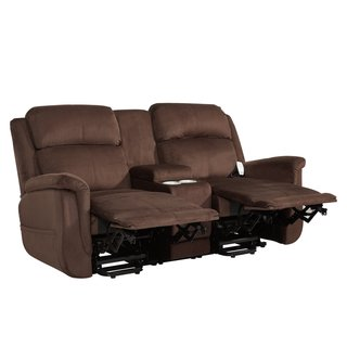 Serta Comfort Lift Hamton Dual Power Lift Reclining Loveseat