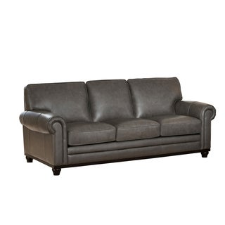 Grey Leather Sofas Couches Loveseats Shop The Best Deals for