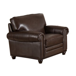 Coventry Top Grain Brown Leather Armchair