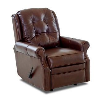 Made to Order Sand Key Leather Reclining Rocking Chair
