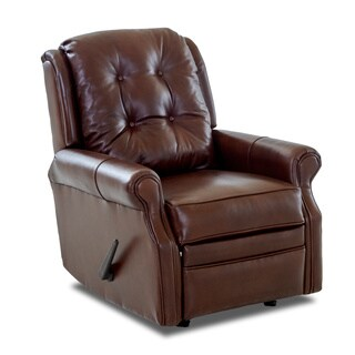Made to Order Sand Key Leather Reclining Rocking Chair (2 options available)