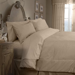 Grand Luxe Egyptian Cotton Sateen 300 Thread Count 4-piece Twin Size Comforter Set in White(As Is Item)