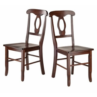 Renaissance Wooden Key Hole Back Chairs (Set of 2)