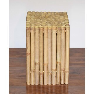 Rustic Square Bamboo Stool/side Table