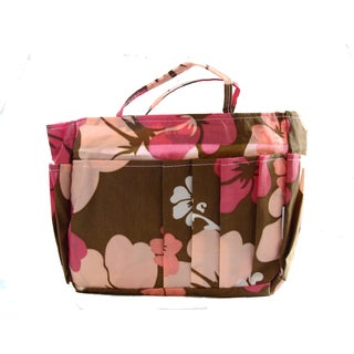 The Plaid Purse Pink Nylon Hibiscus Organizer