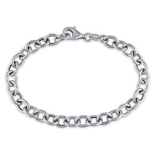 Miadora Sterling Silver Charm Link Bracelet