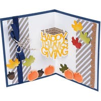 Sizzix Thinlits Dies By Stephanie Barnard 6/Pkg-Happy Thanksgiving 3-D Drop-ins