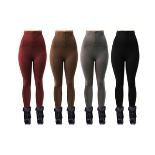 Maze Collections Ladies' Zippered High-Waist Fleece-Lined Leggings (Pack of 4)