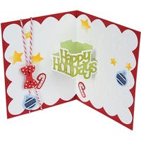 Sizzix Thinlits Dies By Stephanie Barnard 10/Pkg-Happy Holidays 3-D Drop-Ins Sentiment