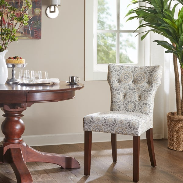 Shop Madison Park Hayes Taupe Tufted Back Dining Chair Set Of 2