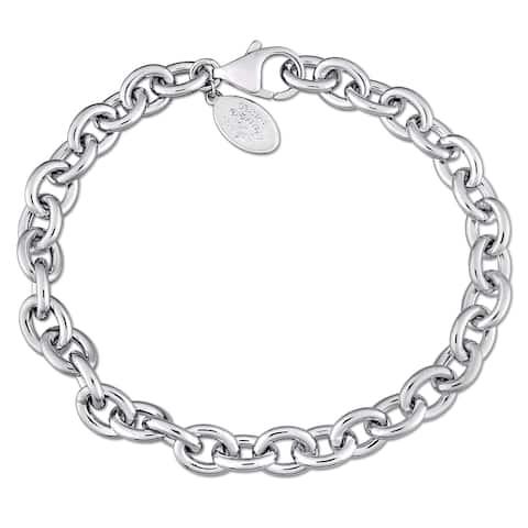 Laura Ashley High Polish Charm Bracelet In Sterling Silver