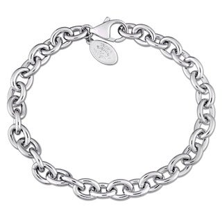 Laura Ashley High Polish Charm Bracelet in Sterling Silver