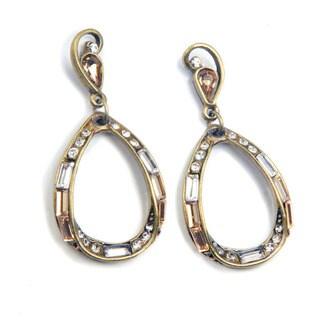 Sweet Romance Art Deco Mid Century Modern Slinky Hoop Earrings