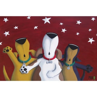 Marmont Hill - Handmade Not so Silent Night Print on Wrapped Canvas