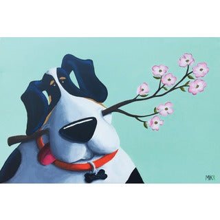 Marmont Hill - 'Woody' by Mike Taylor Painting Print on Wrapped Canvas