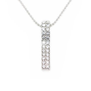 Silvertone Classic Crystal Pendent Necklace (Thailand)