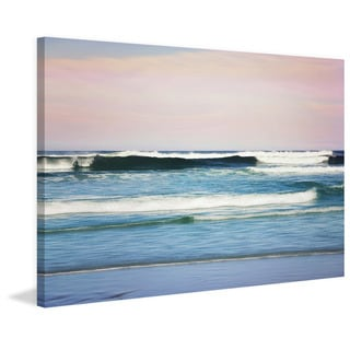 Marmont Hill - 'Crashing Waves' by Sylvia Cook Painting Print on Wrapped Canvas