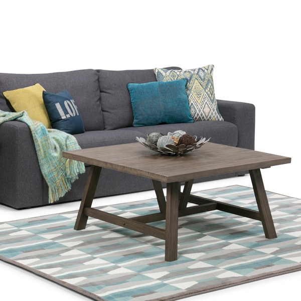 40 Square Driftwood Coffee Table: Shop WYNDENHALL Stewart Driftwood Finish Square Coffee