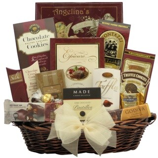 Peace and Prosperity: Medium Chocolate Holiday Christmas Gift Basket
