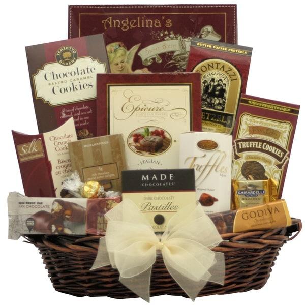 Peace and Prosperity: Medium Chocolate Holiday Christmas Gift Basket