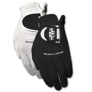 Zero Friction Men's White/ Black Motion Fit GPS Golf Gloves