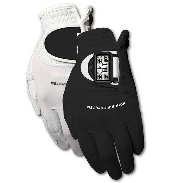 Zero Friction Men's White/ Black Motion Fit GPS Golf Gloves