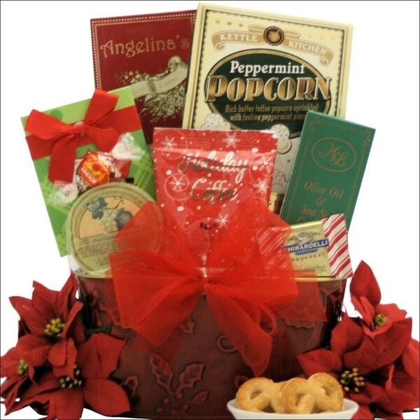 tidings of joy small gourmet holiday christmas gift basket - Christmas Gift Baskets Free Shipping