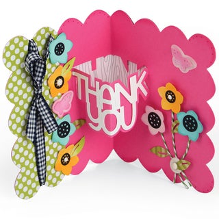 Sizzix Thinlits Dies 9/Pkg By Stephanie Barnard-Thank You Sentiments Drop-Ins Card