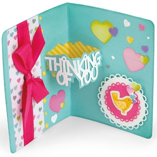 Sizzix Thinlits Dies 14/Pkg By Stephanie Barnard-Thinking Of You Sentiments Drop-Ins Card