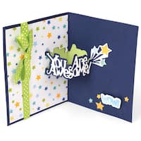 Sizzix Thinlits Dies 8/Pkg By Stephanie Barnard-You Are Awesome Sentiments Drop-Ins Card