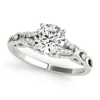 14k Gold 3/5ct TDW Diamond Split Shank Engagement Ring (G, VS2)