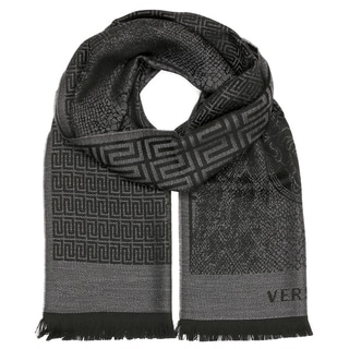 Versace Collection Medusa Grey Wool Scarf