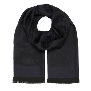 Versace Collection Navy Medusa Scarf