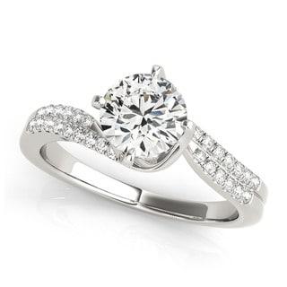 Transcendent Brilliance 14k Gold 3/5ct TDW Diamond Eternity Engagement Ring (G, VS2)