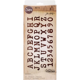 """Sizzix Bigz XL Die By Tim Holtz 6""""X13.75""""-Typo Uppercase Alphabet"""