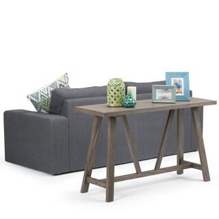 WYNDENHALL Stewart Driftwood Finish Console Sofa Table