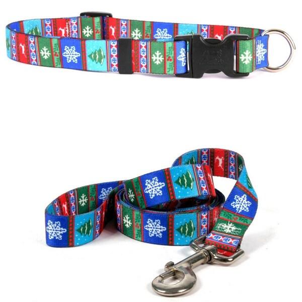 Yellow Dog Alpine Pet Standard Collar and Lead Set