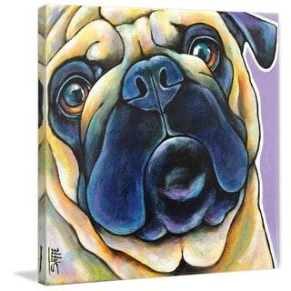 Marmont Hill - 'Pug Mug III' by Stephanie Gerace Painting Print on Wrapped Canvas